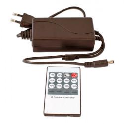 Controlador + transformador con mando, tira led monocolor 12V