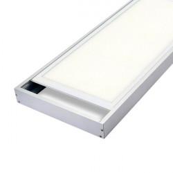 Plafonnier LED Argenté carré 12W