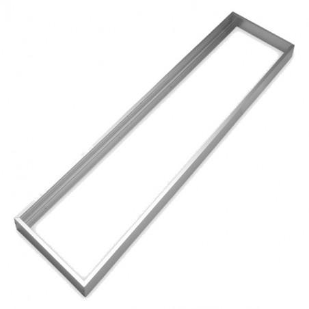 Marco aluminio plata para panel 30x120