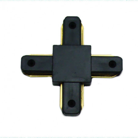 Connectable Rail Connector - Cross, black