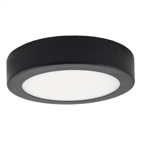 LED Ceiling Light - Round, 12W BLACK