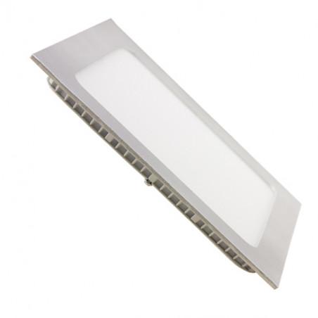 Downlight panel 18W cuadrado PLATA