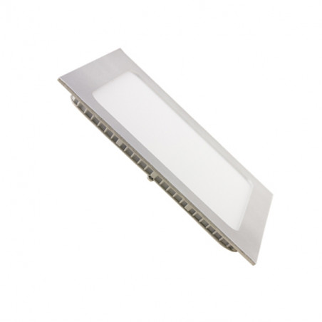 Downlight panel 12W cuadrado PLATA