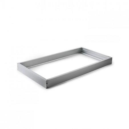 Marco aluminio plata para panel 30x60