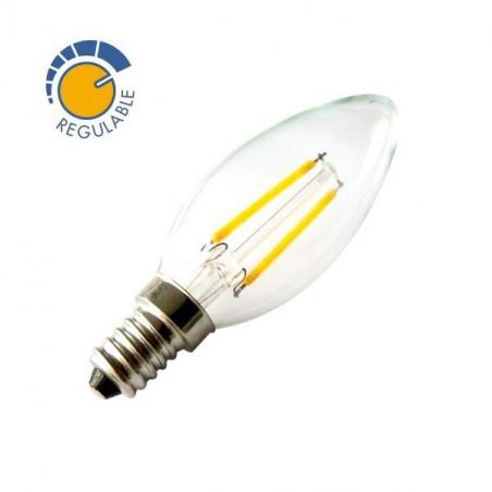 Bombilla vela de filamentos LED 360º 2W