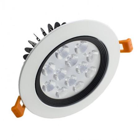 LED Downlight - 12W, White Frame