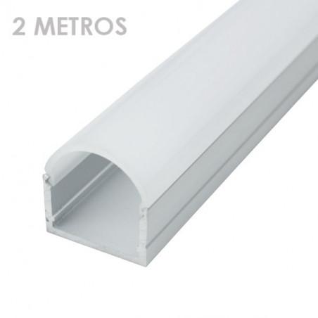 Perfil rectangular aluminio tira led 20 x 21 x 2000mm
