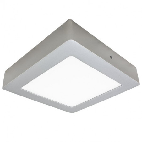 Plafón LED 30W cuadrado plata