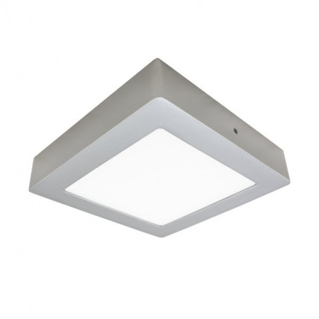 LED Ceiling Light - Square, 18W silver