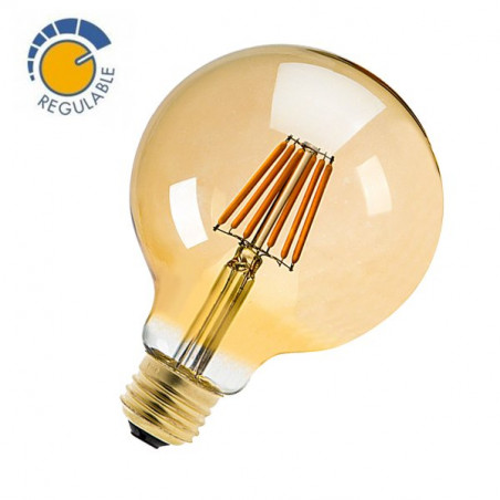 LED Bulb - Globe, 6W, 360º, OLD, DIMMABLE