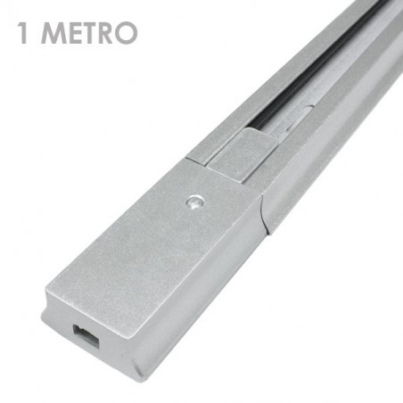 LED Spotlights Rail - Connectable, 1 Metre Long, grey