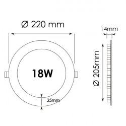 Cadre légère LED 60x60 48W