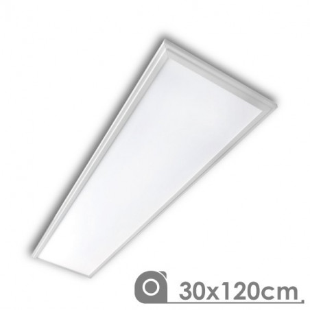 LED Panel - Extra-slim, 40W, 30 x 120 cm white frame