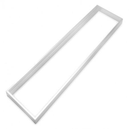 Marco aluminio blanco para panel 30x120