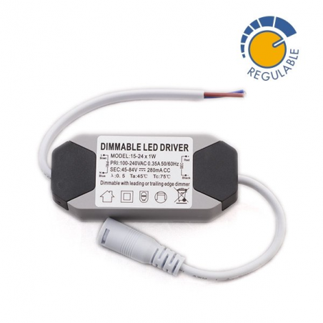 Driver REGULABLE para panel LED de 24W