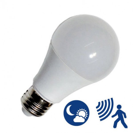 Light Bulb - E27, 10W motion + light sensor