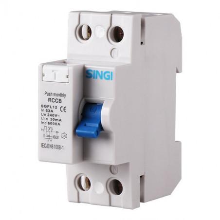 Interruptor diferencial 2P 6kA