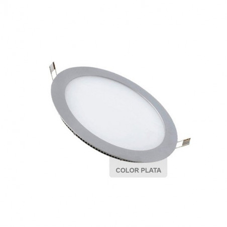 Downlight - SILVER Round 6W Panel