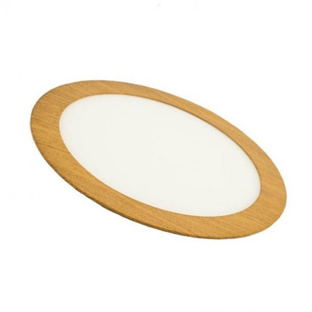 Downlight - WOOD Round 12W Panel