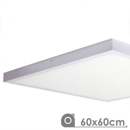 Panel LED superficie 60x60 48W marco blanco