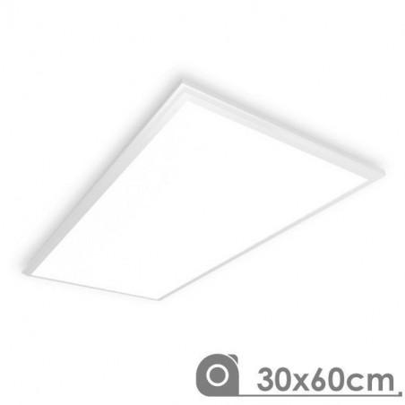 LED Panel - Extra-slim, 25W, 30x60 cm WHITE FRAME