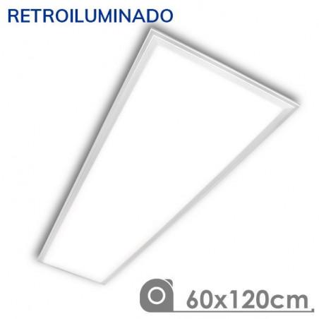 Panel LED 60X120 cm 90W retroiluminado marco blanco