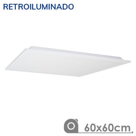 Panel LED 60X60 60W retroiluminado marco blanco