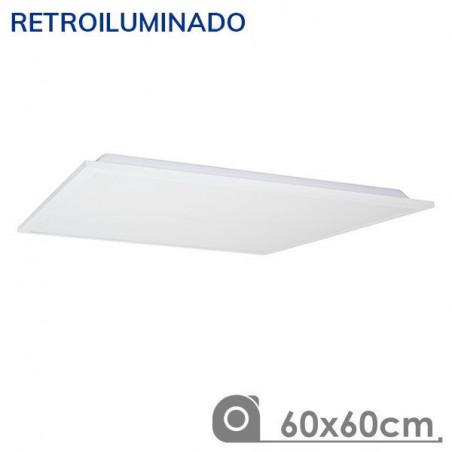 Panel LED 60X60 60W retroiluminado marco blanco