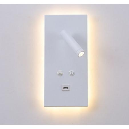 APLIQUE ALUMINIO LED 3+12W USB