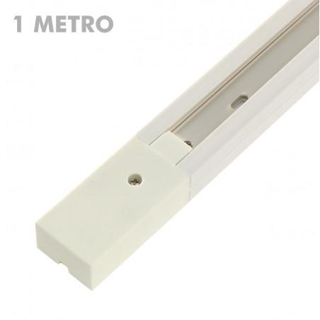 Carril focos led PVC blanco...