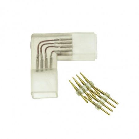 Conector en L tira LED 220V...
