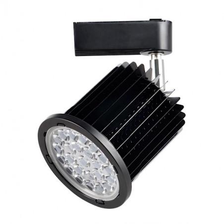Foco carril negro 24W orientable luz fría